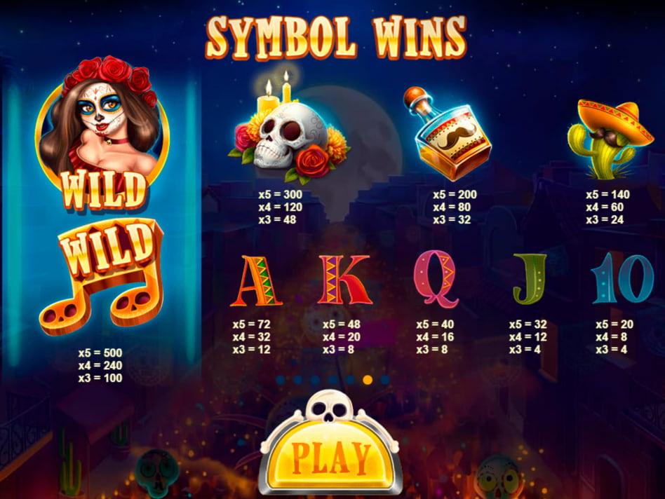 Esqueleto Mariachi slot game
