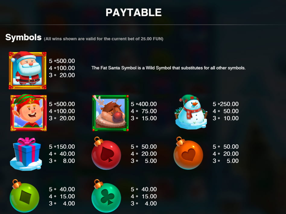 Fat Santa slot game
