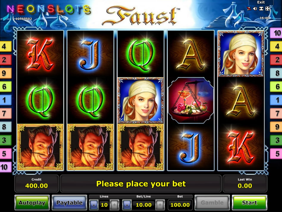 Faust slot game
