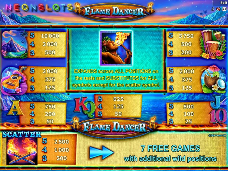 Flame slot game