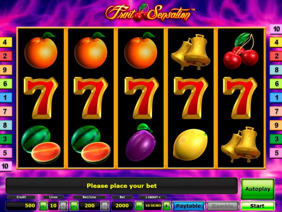 Fruit Sensation slot game