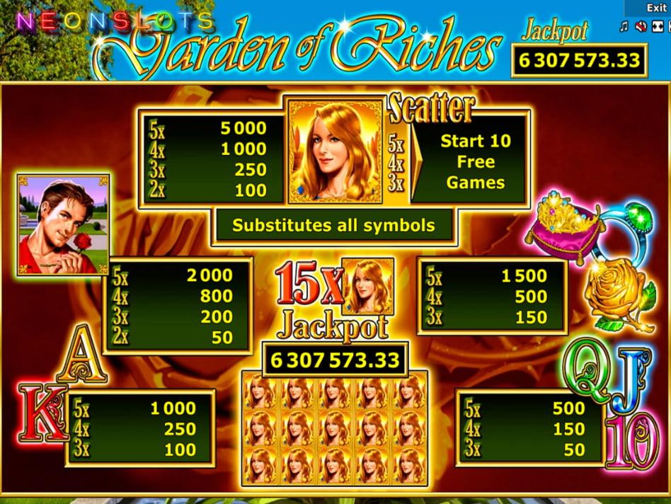 Garden of Riches slot game