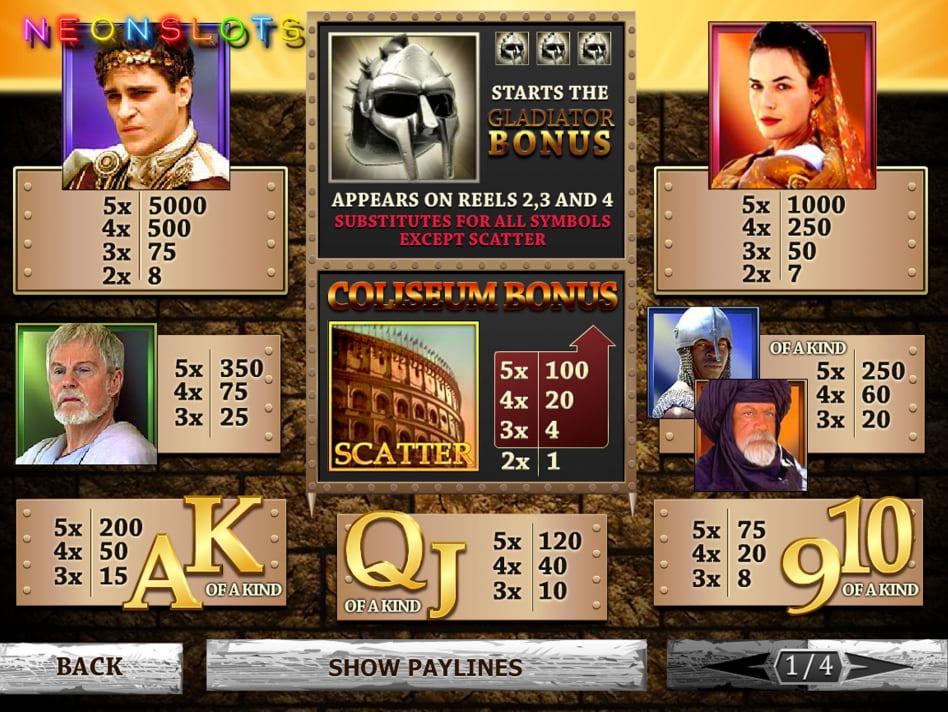 Gladiator slot game
