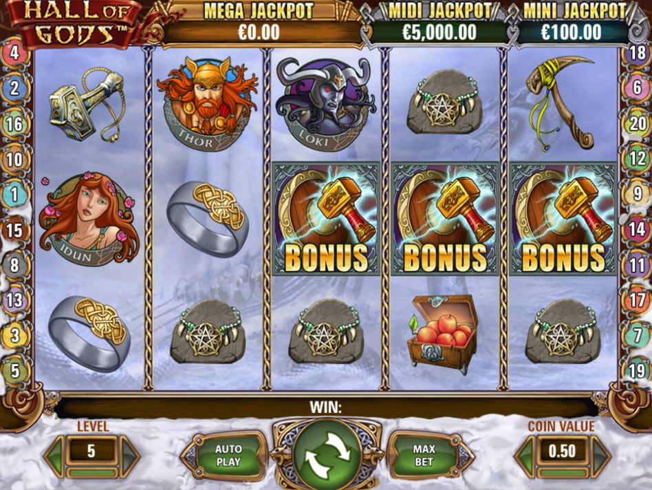 Hall of Gods slot game