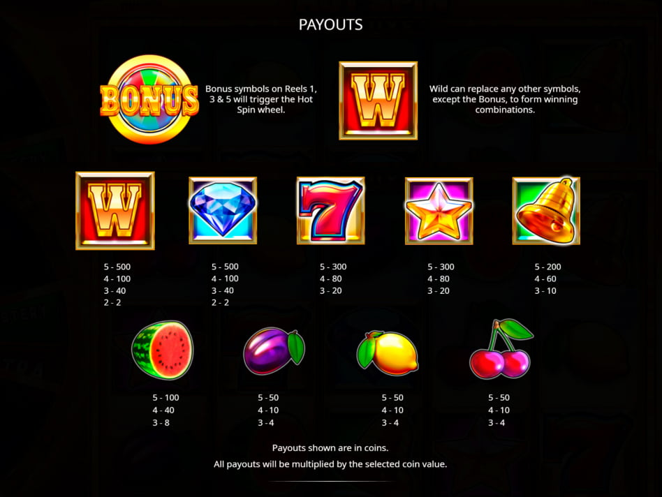 Hot Spin Deluxe slot game