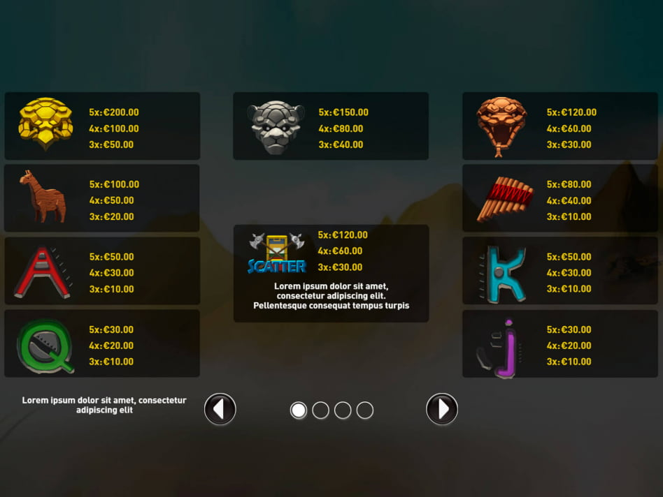 Inca's Treasure slot game