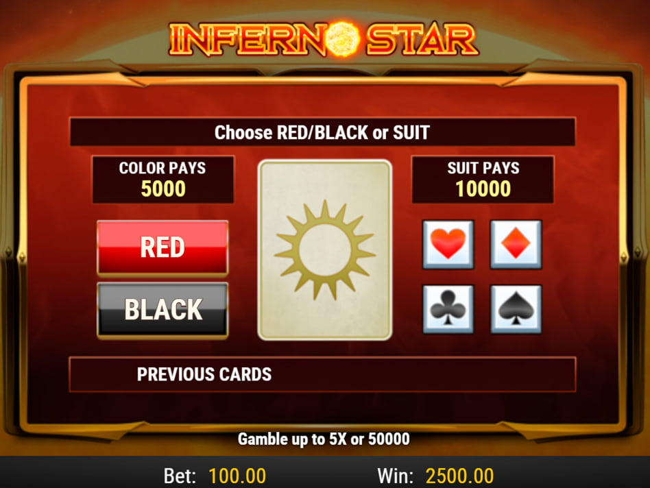 Inferno slot game