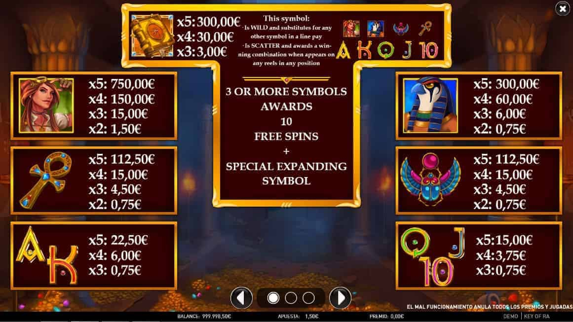 Key of Ra slot game