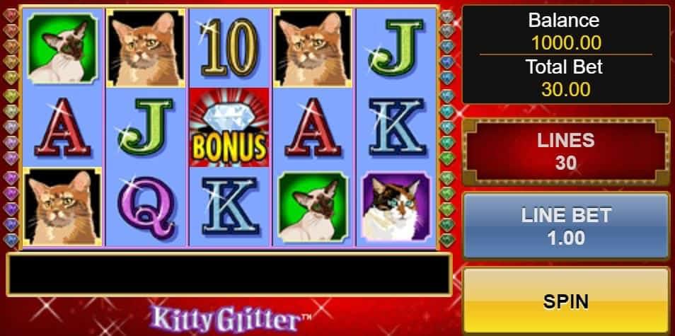 Kitty Glitter slot game