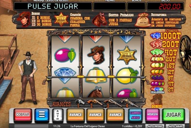 La Fortuna del Lejano Oeste slot game