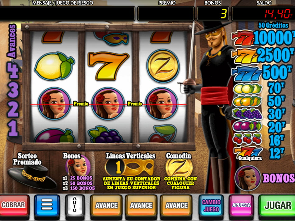 La Mascará de Oro slot game