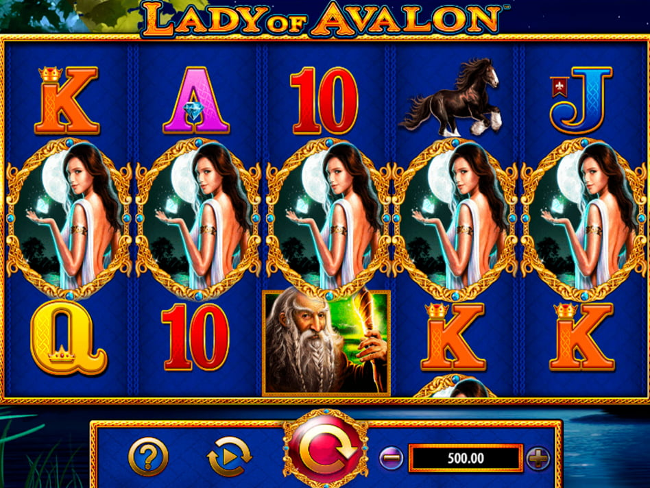 Lady of Avalon slot game