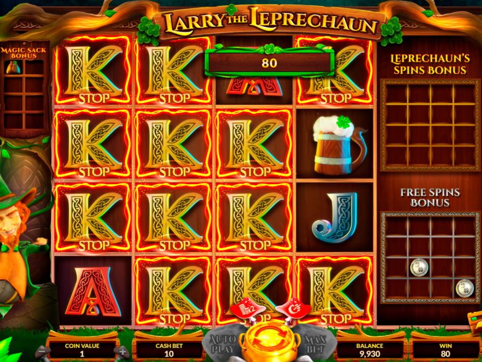 Larry the Leprechaun slot game