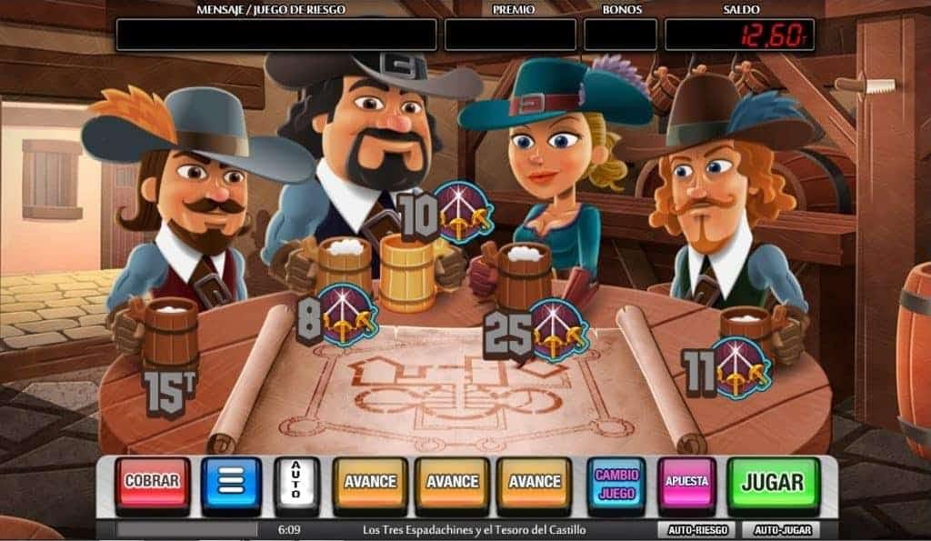 Los Tres Espadachines y el Tesoro del Castillo slot game