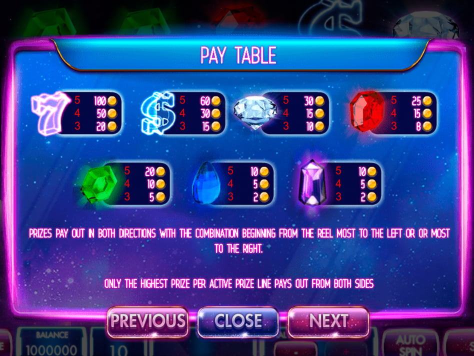 Mega stellar slot game