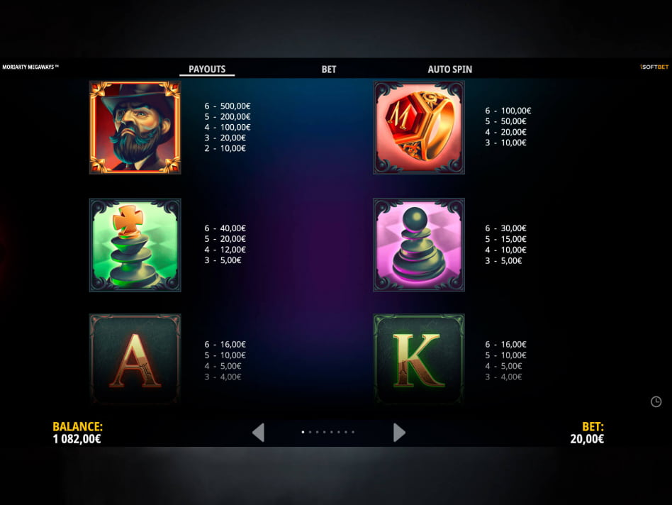 Moriarty Megaways slot game