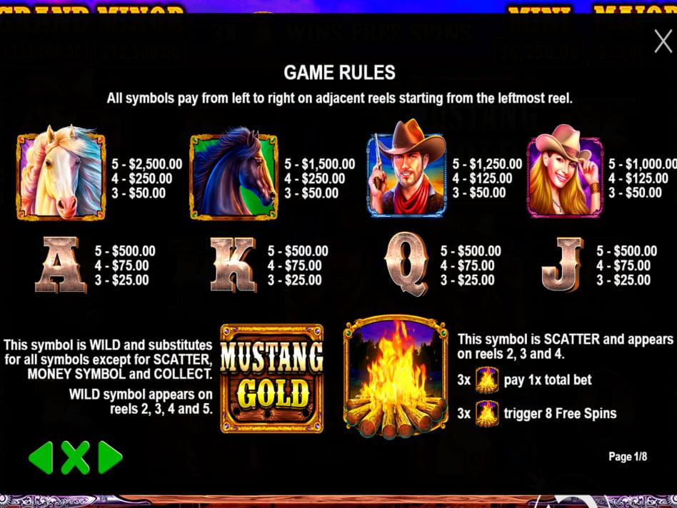 Mustang Gold slot game
