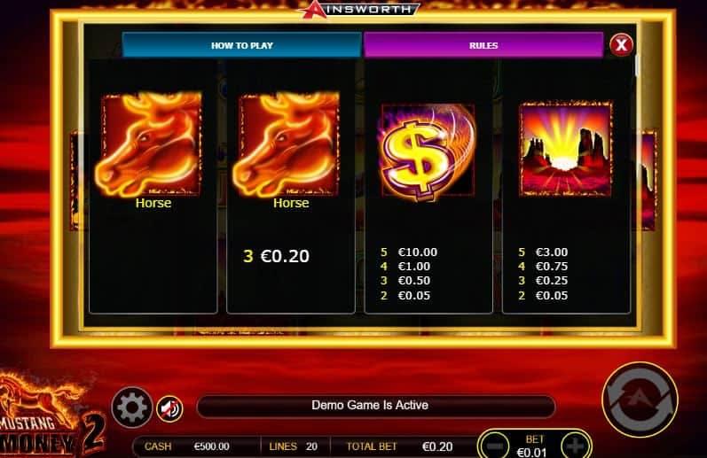 Mustang money 2 slot game