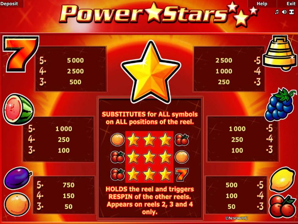 Power Stars slot game