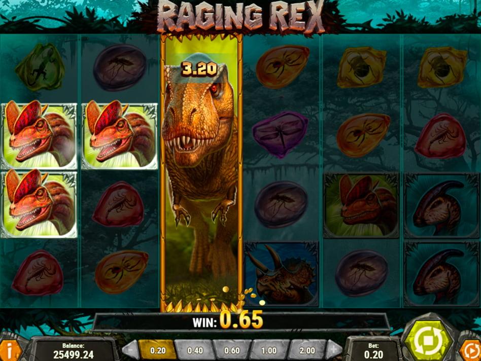 Raging Rex slot game