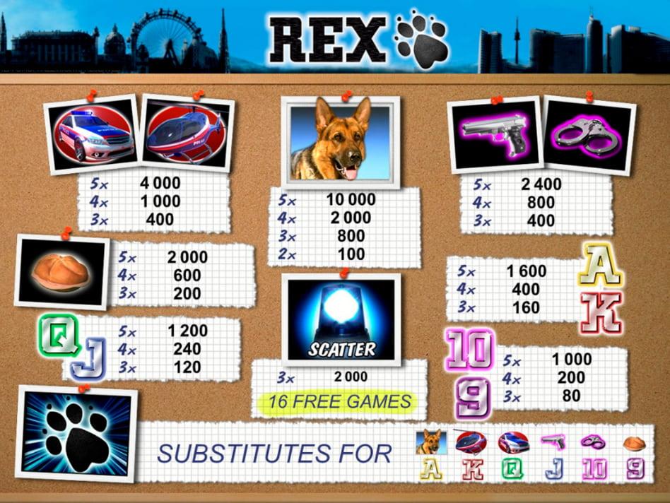 Rex slot game