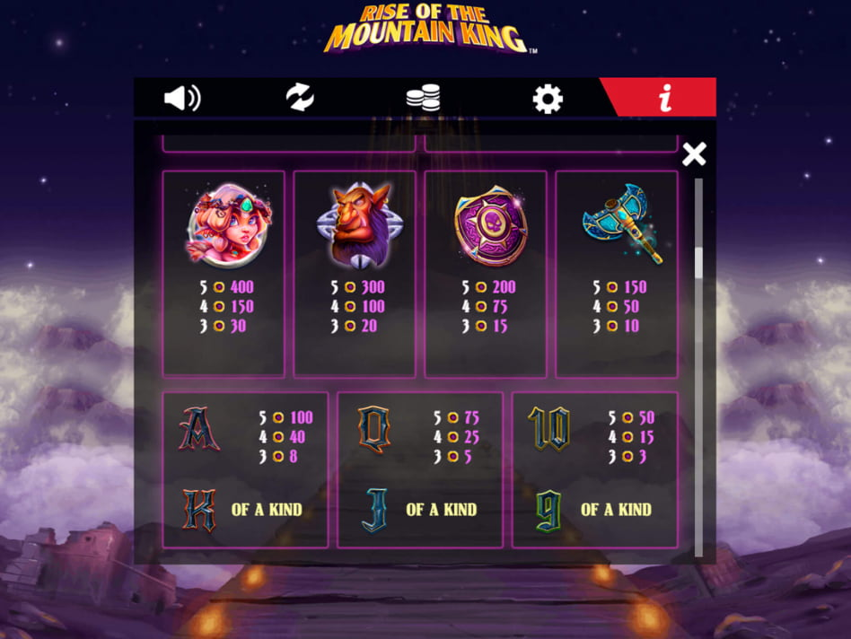 Rise of the Mountain King slot game