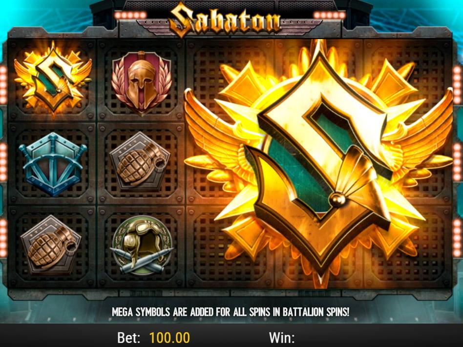Sabaton slot game