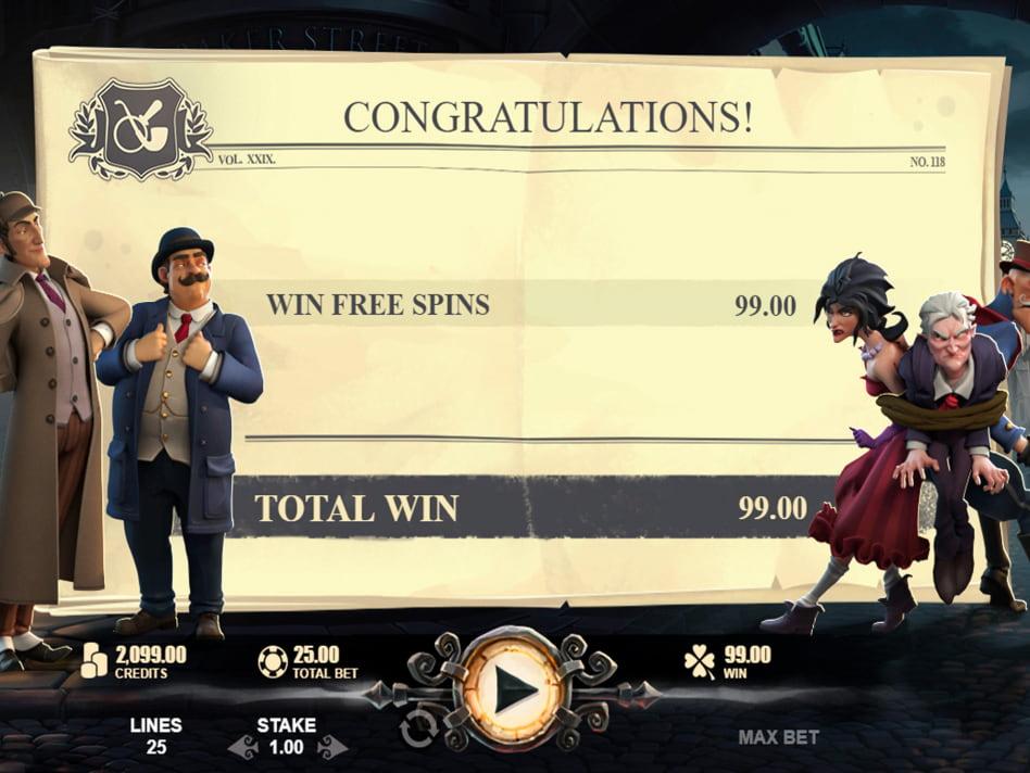 Sherlock of London slot game