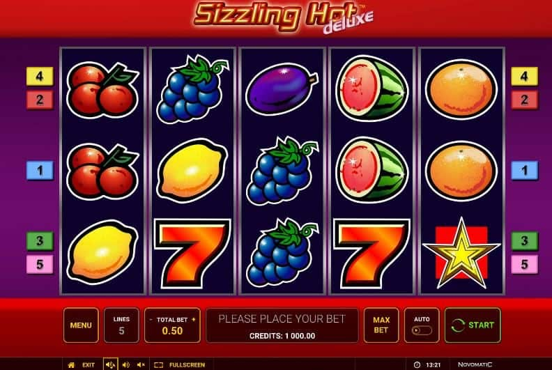 Sizzling Hot deluxe slot game
