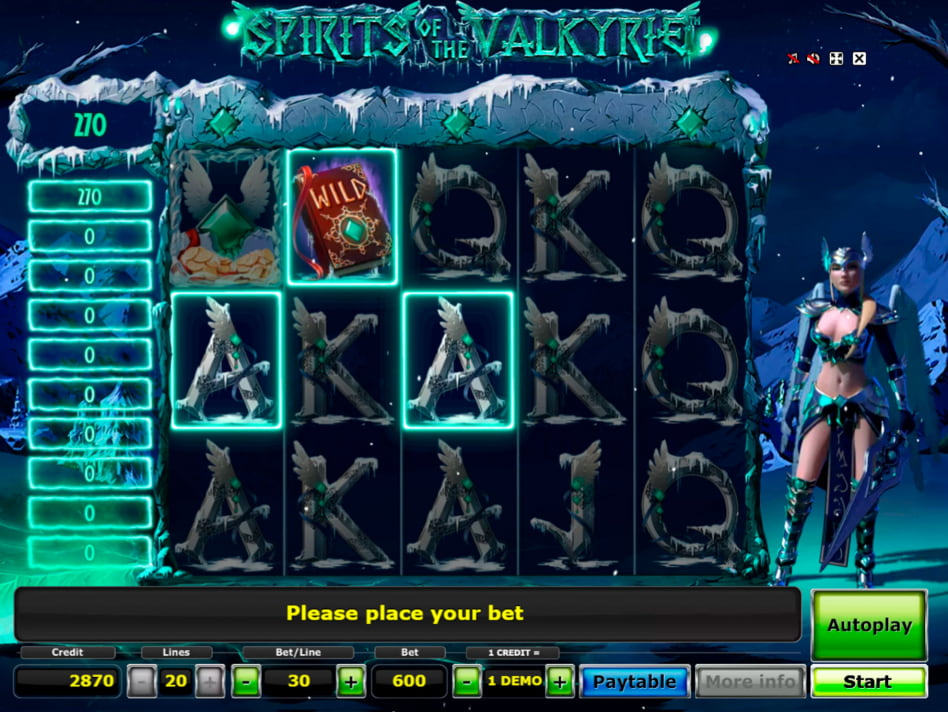 Spirits of the Valkyrie slot game