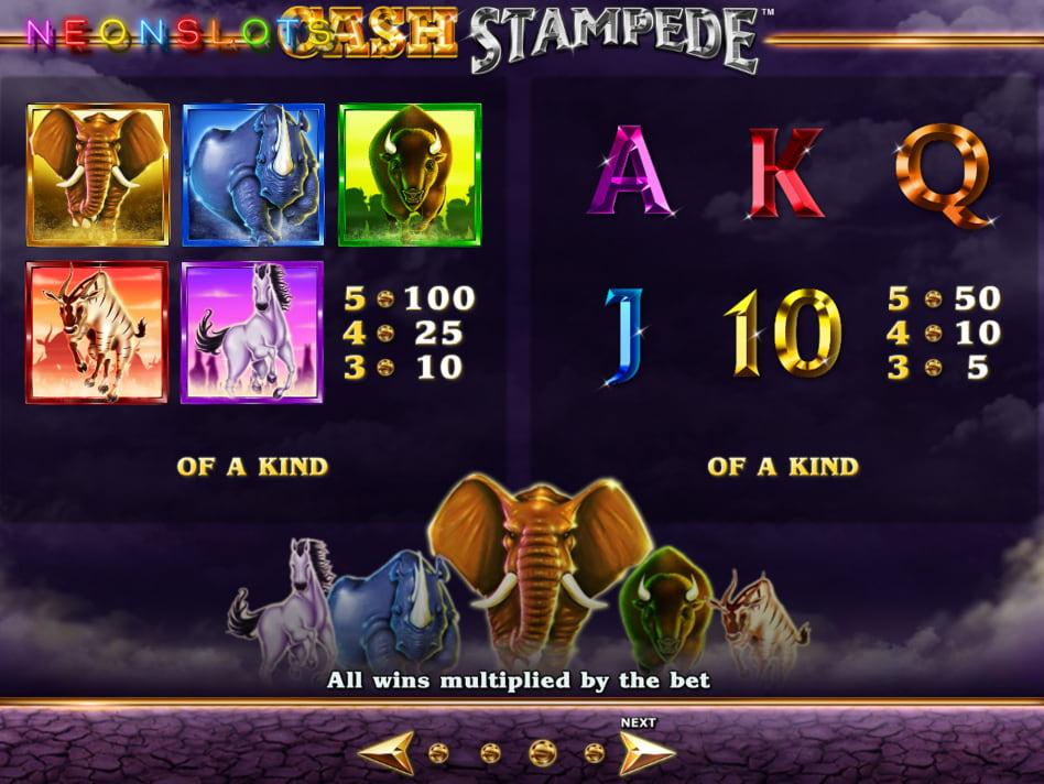 Stampede slot game