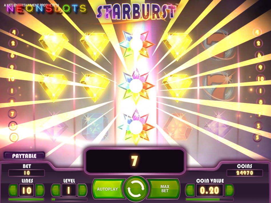 Starburst slot game