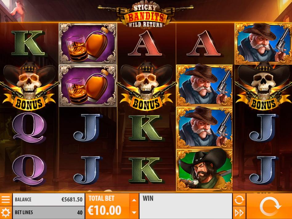 Sticky Bandits slot game