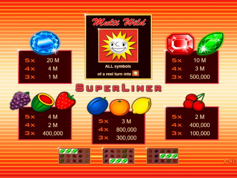 Super Liner slot game