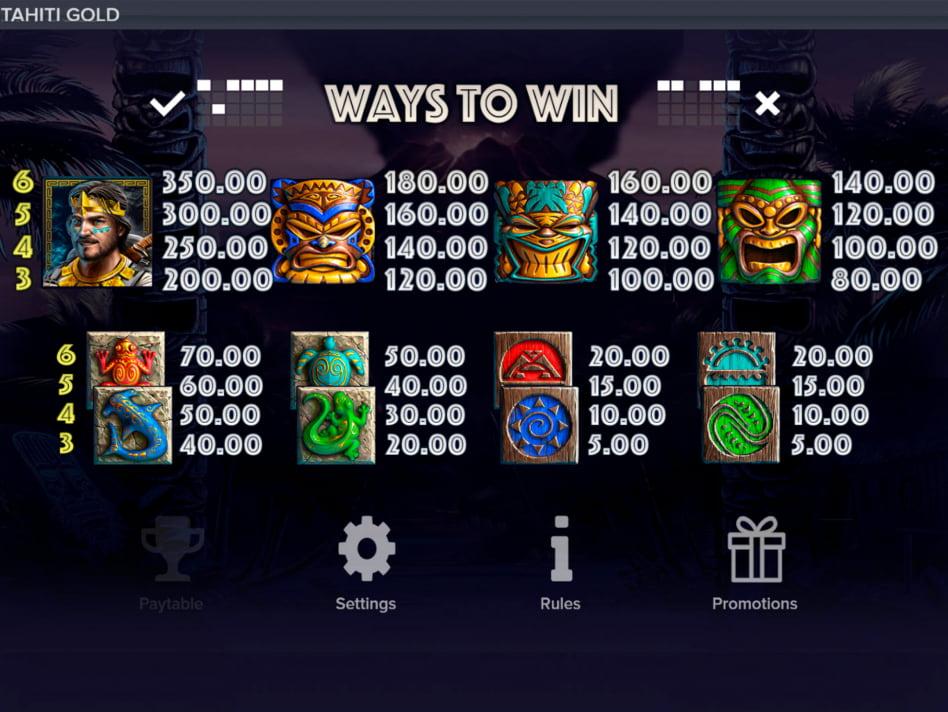 Tahiti Gold slot game