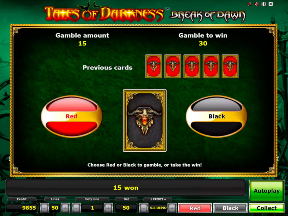 Tales of Darkness Break of Dawn slot game