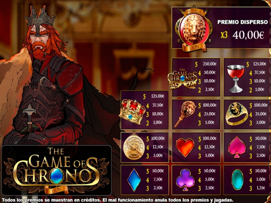 The Game of Chronos Lion slot game