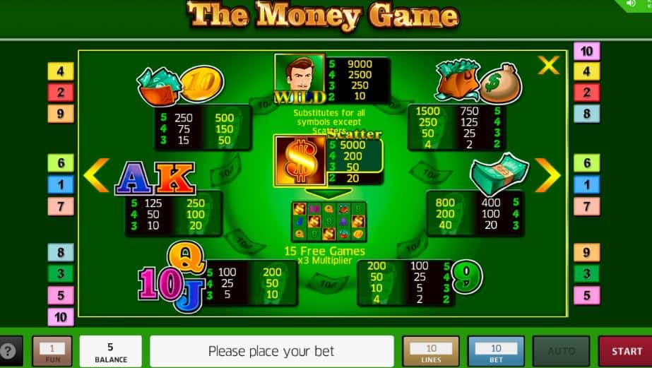 The Money Game slot game