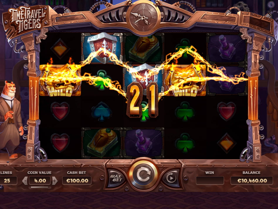 Time Travel Tigers slot game