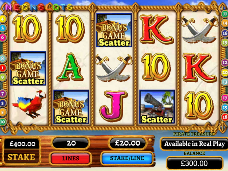 Treasure Island slot game