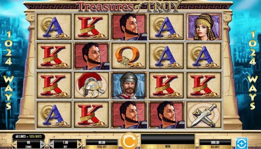 Treasures of Troy slot game
