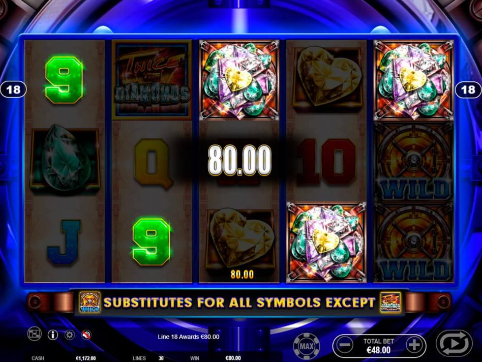Twice the Diamonds slot game