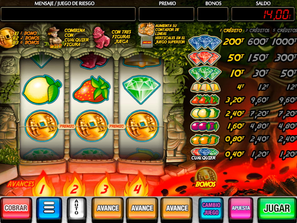 Volcano slot game