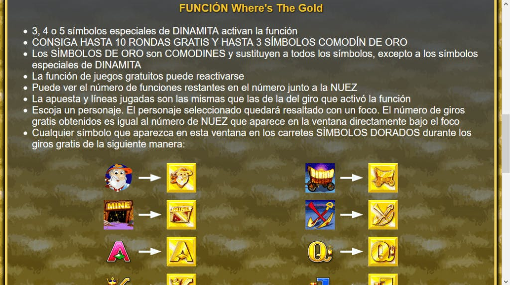Where's The Gold slot game