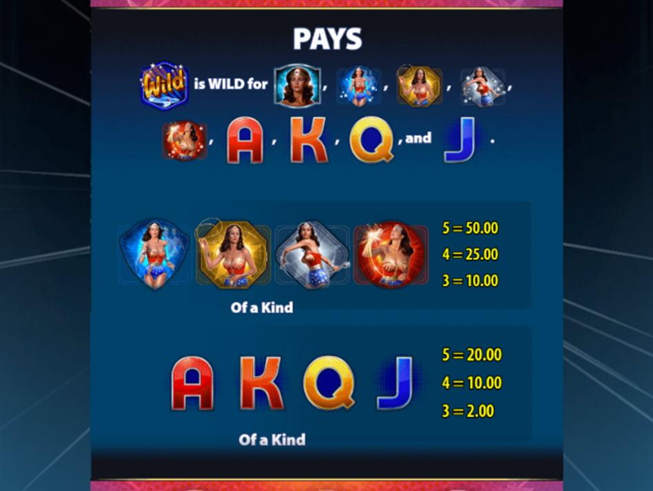 Wonder Woman Bullets & Bracelets slot game