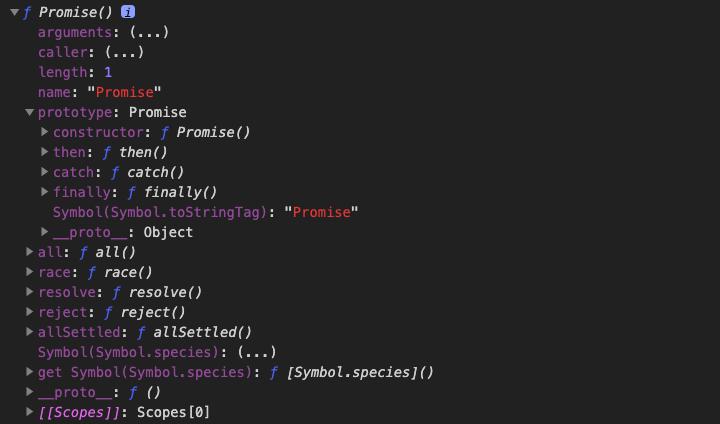 Promise 建構函式展開後的結構