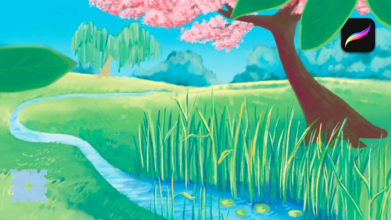 Spring | Homepage Cover Art for Lyrical Days | Procreate Illustration | Timelapse