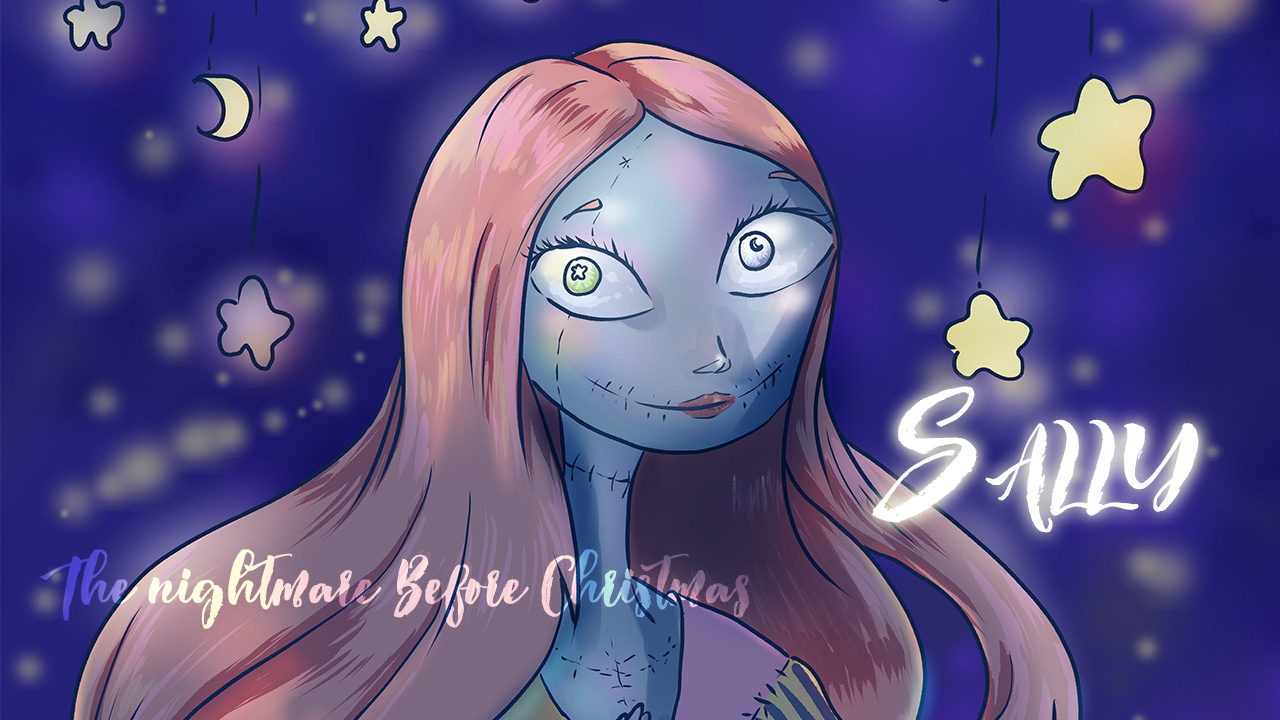 Speed Drawing Sally from The Nightmare Before Christmas | 1 Hour Challenge