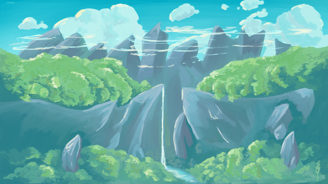 Mountain Spring | Clip Studio Paint | Chill Painting Timelapse
