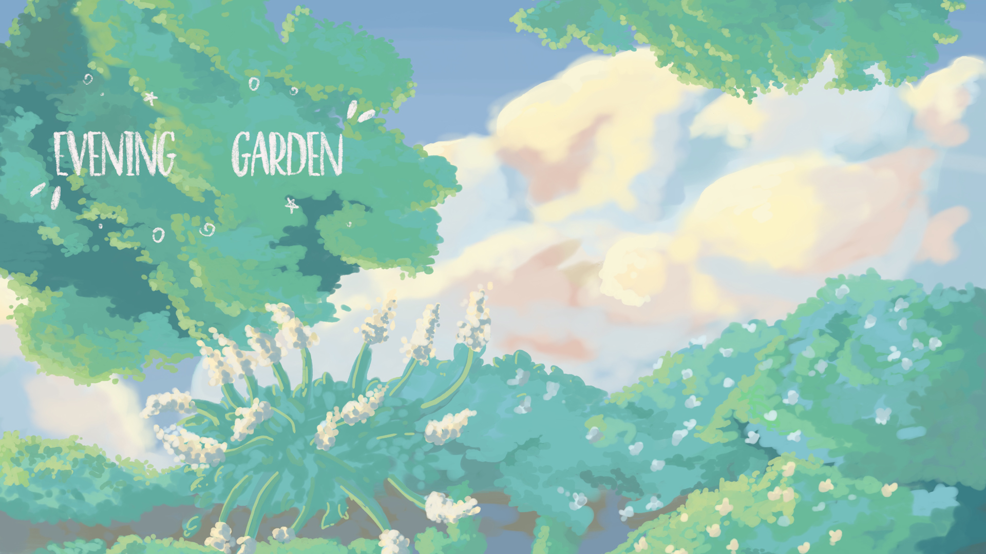 Evening Garden | Procreate Timelapse | Chill Draw With Me